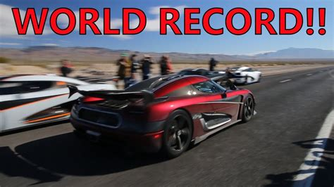 Koenigsegg Agera Rs Top Speed by Koenigsegg Agera Rs Breaks Top Speed World Record