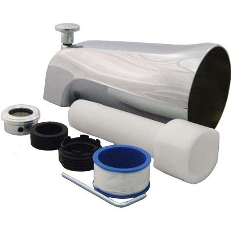Partsmasterpro Universal Tub Spout With Diverter In Chrome