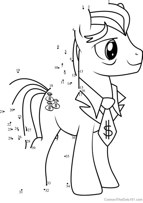 filthy rich   pony dot  dot printable worksheet