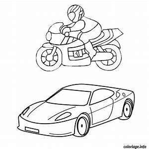 Jeux De Moto Et Voiture : coloriage moto et voiture dessin ~ Maxctalentgroup.com Avis de Voitures
