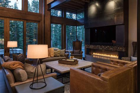design of home interior lake tahoe getaway features contemporary barn aesthetic
