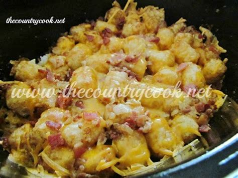 cheesy chicken tater tot casserole slow cooker