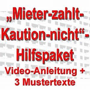 Vermieter Zahlt Kaution Nicht : mieter zahlt kaution nicht hilfspaket 2 videos 3 mustertexte ~ Yasmunasinghe.com Haus und Dekorationen