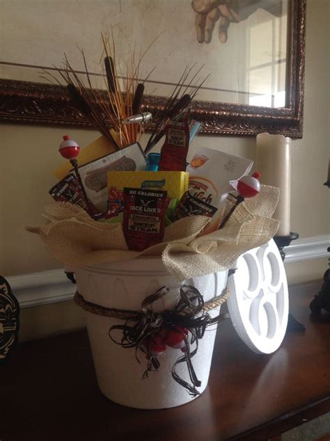 fishing gift basket bigdiyideascom