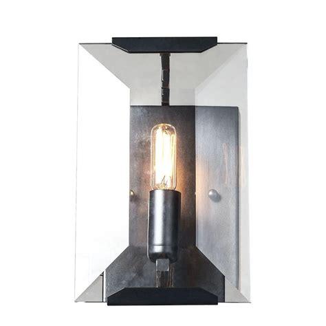 lighting monaco 1 light flat matte black glass