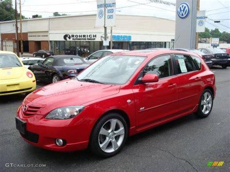 2006 Velocity Red Mica Mazda Mazda3 S Hatchback #13360265