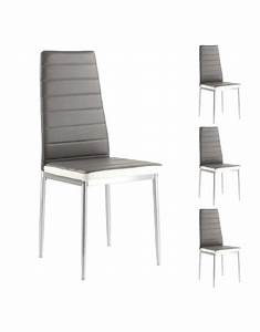Chaise Blanche Et Grise : chaise grise et blanche vuesdesofia ~ Teatrodelosmanantiales.com Idées de Décoration