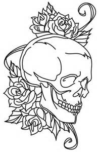 Graveyard Skull Tattoo Stencils