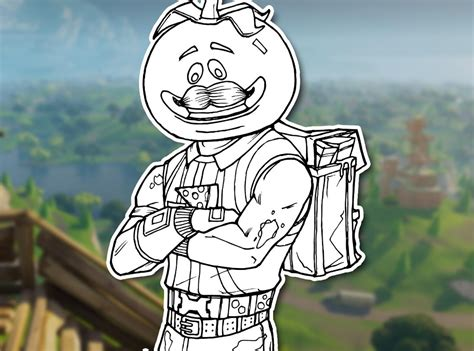 draw tomatohead fortnite battle royale drawing