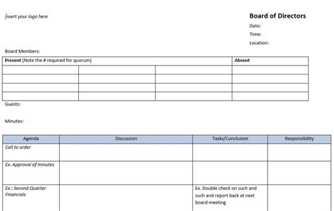 meeting minutes templates    ace