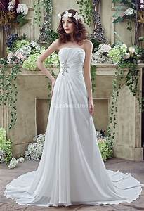 robe de mariee sobre coupe simple mousseline With robe de mariée élégante