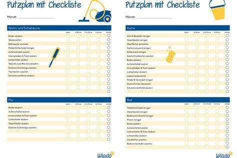Putzen Plan by 15 Putzplan Zum Ausdrucken Annasasiangrill