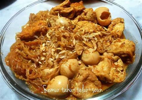 Dua sumber protein hewani dan nabati, yang dikombinasikan. Resep Semur Tahu Telur Puyuh dan Soun oleh PinK Kitchen ...