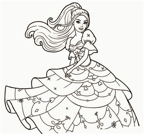 Drawn Barbie Coloring Page Pencil And In Color Drawn