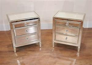 Table De Nuit Miroir : chevet miroir archives antiquites canonbury ~ Teatrodelosmanantiales.com Idées de Décoration