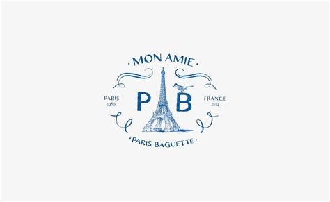 Create your own unique coffee shop or bakery logo with this cool template, which is easy to adapt to your needs. My Bookmarks (With images)   Paris baguette, French logo, Baguette
