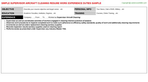 supervisor aircraft cleaning title docs