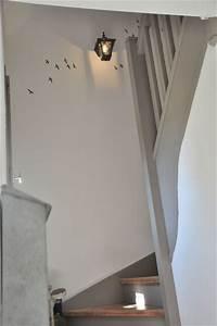 escalier peint blanc et gris source page blanche n11 With deco montee d escalier