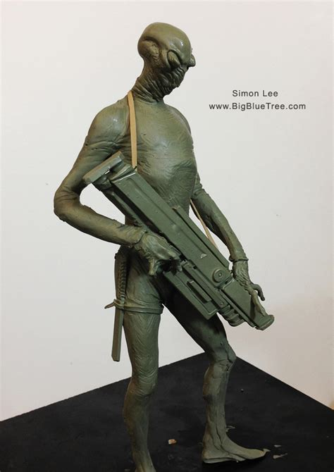 simon lee spiderzero sculptor godzilla king