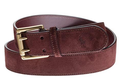 Polo Ralph Lauren Mens Belts Brown Suede New Italian