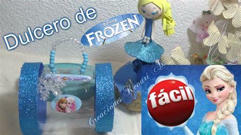 dulcero de elsa de frozen con material reciclado botellas pl 225 sticas manualidades