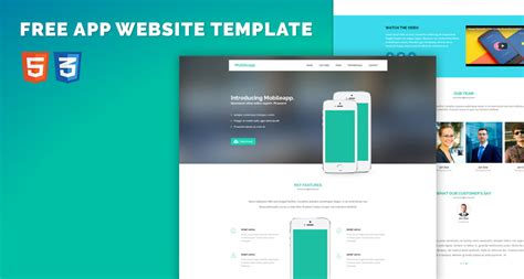 App Download Html5 Template by Free App Website Bootstrap Html5 Template Free Html5