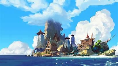 Island Digital Water Anime Wallpapers Px Desktop