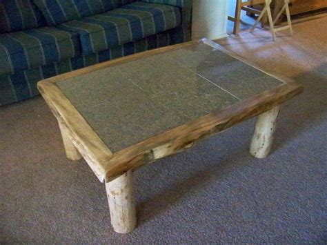 coffee table with tile inlay