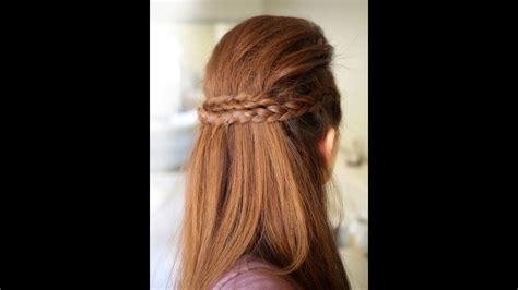 Half Hairstyles by Half Braided Hairstyle Tutorial