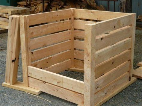 wooden compost bin composting recycles yard waste makes it beneficial 1157