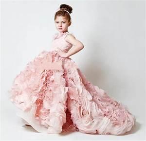 Best Selling 2015 A Line Ruffles Organza Pink Flower Girl