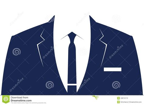 business suit template stock illustration image