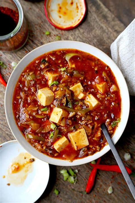 ultimate vegan mapo tofu pickled plum food