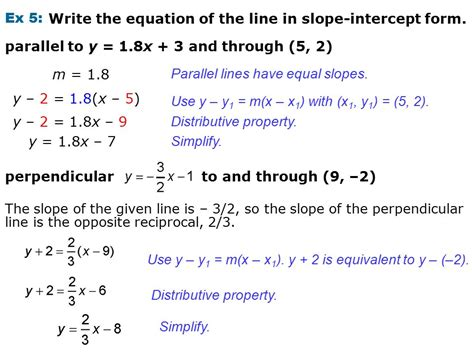 Ex 1 Write The Equation Of The Graphed Line In Slope