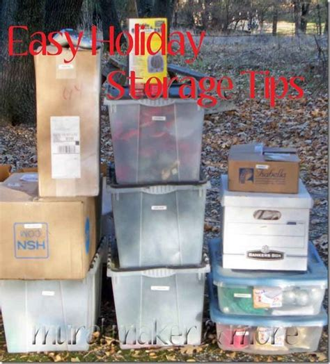 easy tips  consolidating  storing christmas