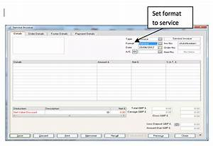 sage raising a service invoice With sage line 50 invoice template