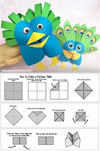 How To Make A Fortune Teller  Printable Diagram Included    Cootie Catcher Design Ideas
