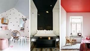 Bien Peindre Un Plafond : 12 id es pour oser peindre un plafond en couleur ~ Melissatoandfro.com Idées de Décoration