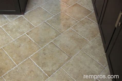 ceramic tile installed on kitchen floor