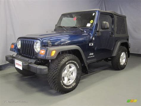 patriot jeep blue 2004 patriot blue pearl jeep wrangler x 4x4 31900710