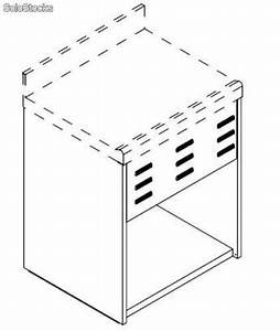Offenes element fur spulmaschine ohne oberseite 60 x 60 h for Spülmaschine h he 60 cm