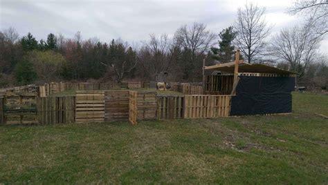 horse pasture shelter  pallets