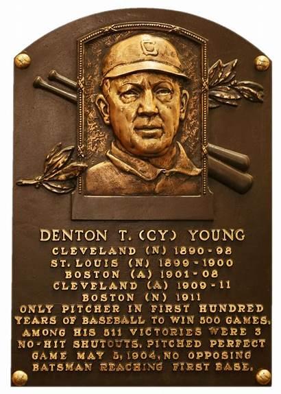 Cy Young Baseball Fame Hall Plaque Hof