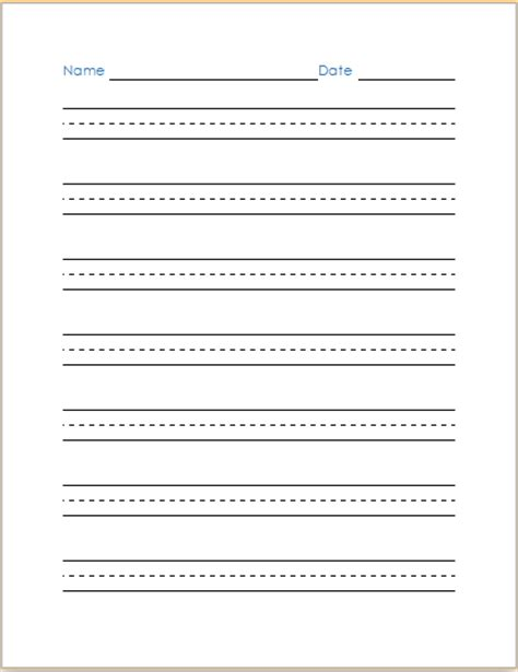Cursive Writing Paper Template by Ms Word Handwriting Practice Paper Template Document