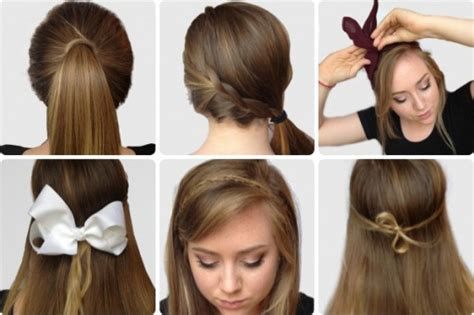 How To Do Six Simple Yet Pretty Hairstyles Step By Step Tutorial Instructions