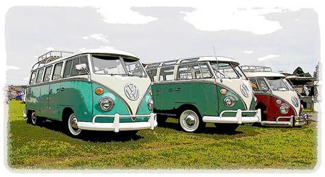 volkswagen bus row photograph  steve mckinzie