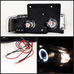1995-2005 Gmc Safari Angel Eye Halo Projector Headlights