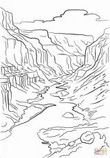 Canyon Grand Coloring Pages Printable Crafts Drawing Mountains Arizona Adult Nature Para Colorear Supercoloring Dibujos Drawings Imagenes Cartoons Sheets Printables sketch template
