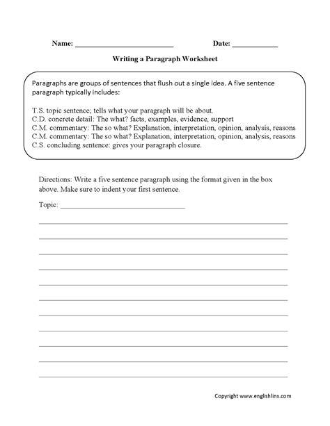 worksheet topic sentences worksheets grass fedjp