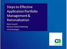 Steps to Effective Application Portfolio Management